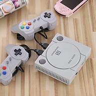 Máy chơi game 4 nút tích hợp 1000 trò chơi cổ điển kết nối Tivi 2 tay cầm hình ảnh sắc nét âm thanh sống động. thumbnail