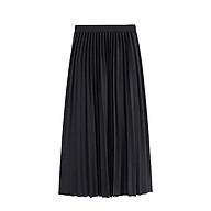 Chân váy xếp ly CÁT HÀN dài kiểu dáng Hàn QUốc thumbnail