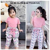 Bộ đôi hồng sang chảnh TTG120 TTG121 QATE273 QATE274 cho mẹ và bé thumbnail