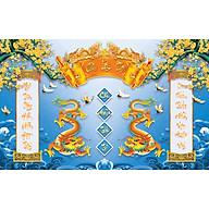 Tranh dán tường trang trí bàn thờ phòng thờ Cửu Huyền Thất Tổ CHTT_003 nhiều kích thước thumbnail