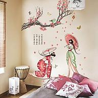 Decal dán tường kiệt tác kimono Nhật Bản JM7331 thumbnail