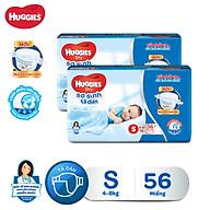Combo 2 tã dán sơ sinh Huggies Diapers New Born S56 thumbnail