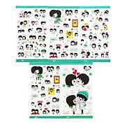 Bộ 5 Tấm Sticker Trang Trí Nhật Ký Tình Yêu Màu Lá FF026 thumbnail