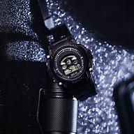 Đồng hồ điện tử thời trang nam nữ Sp4 viền màu mặt tròn đây nhựa dẻo. thumbnail