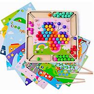 Đồ chơi bằng gỗ Giáo dục Montessori Gắp Bi ghép tranh thumbnail