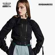 DSQUARED2 - Áo khoác nữ ngắn phối zip Parachute Bomber S72AM0735-900 thumbnail