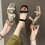 Q1 Sandal co gót trong phối quai mảnh 7p - Sandal mũi vuông cách điệu, êm chân, thời thượng - Giày dép tiểu thư thumbnail
