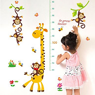 Decal dán tường trang trí phòng cho bé, lớp mầm non- Thước đo hươu đáng yêu- mã sp DSK9292 thumbnail