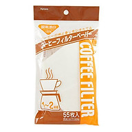 Set 55 Túi Giấy Lọc Cà Phê - Nâu (Size M - nội địa Nhật Bản thumbnail