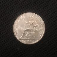 Đồng xu Đông Dương 10 cent hoa xòe lưu niệm 1912 thumbnail