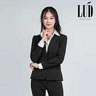 Vest nữ công sở đen sọc trắng LUD Fashion thumbnail