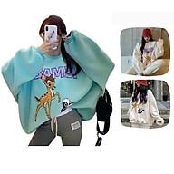 Áo khoác hoodie sweater Chống Rét Cho Nam nữ Cho Cặp Đôi in hình Bambi Unisex Form rộng Có 2 Màu Ulzzang thumbnail