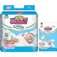 Tã Dán Goo.n Premium Gói Cực Đại Newborn NB70 (70 Miếng) - Tặng thêm 8 miếng cùng size thumbnail