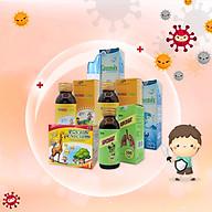 Combo tăng cường hệ miễn dịch cho bé Canxi Focus hộp 20 ống 10ml, Xịt mũi Greensix- 100ml, Siro ho Skipcought 100ml, Siro Vitamin tổng hợp Focus Children thumbnail