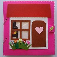 Đồ chơi Búp bê Nhà Búp bê bằng Vải (Hình thật 100%) - Sách vải cho bé - Sách vải Ngôi nhà búp bê - Dollhouse Quiet Book thumbnail