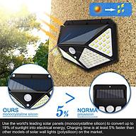 Đèn năng lượng mặt trời 100 LED - 3 chế độ sáng, Đèn Năng Lượng Mặt Trời Cảm Biến Chuyển Động Cảm Biến Chống Nước Đèn 3 Chế Độ dùng Ngoài Trời Sân Vườn thumbnail