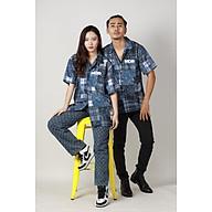 Áo Sơ Mi Unisex Hoạ Tiết Tay Ngắn Cổ Vest Thời Trang Vải Lụa Local Brand Mi Midori thumbnail