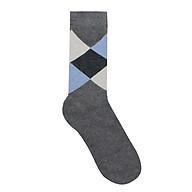 Tất vớ dài cao cấp chất liệu cotton họa tiết quả trám hiện đại màu xanh thumbnail