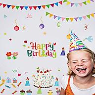 Decal dán tường chúc mừng sinh nhật happy birthday thumbnail