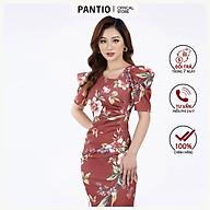 Đầm công sở in Họa tiết hoa dáng ôm ngắn tay FDC52850 - PANTIO thumbnail