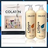 Bộ dầu gội xả dưỡng chất tơ tằm Collagen COLATIN Shampoo & Conditioner 1000ml thumbnail