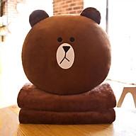 Bộ chăn gối văn phòng gấu brown thỏ cony cao cấp 2in1 thumbnail