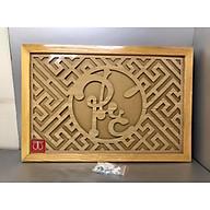 Tấm chống ám khói hương bàn thờ mẫu không chữ Phúc nét Chữ Thư pháp mầu vàng ( nhiều kích thước)-TL302 thumbnail