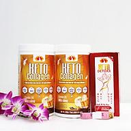 Liệu trình 2 hộp Keto Collagen 500g [Chính Hãng] - Bữa ăn Keto hỗ trợ GIẢM CÂN SIÊU TIỆN LỢI cho người thực hành Keto và người muốn giảm cân - Giảm 3-7Kg 1 tháng [Tặng 1 hộp Keto Detoxx giảm cân cấp tốc và 1 Thước dây] thumbnail