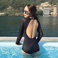 BIKINI Hàn Quốc kiểu dài tay khoét lưng siêu sexy, tôn dáng che khuyết điểm tốt thumbnail