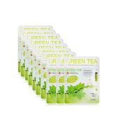 Combo 10 chiếc đắp mặt nạ hương trà xanh green tea ngừa mụn dưỡng da DABO hàn quốc + Tặng 1 gói bông TT thumbnail