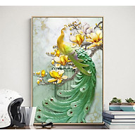 Tranh treo tường phong thủy trang trí nội thất hình chim công đủ màu thumbnail