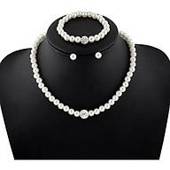 Bộ trang sức nữ thời trang cao cấp hàn quốc giá rẻ Trọn bộ gồm bông tai + vòng cổ+ vòng tay thumbnail