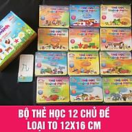 Bộ Thẻ Học Thông Minh Song Ngữ Anh - Việt 12 chủ đề - Đồ chơi giáo dục thumbnail