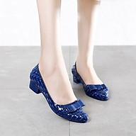 Giày dép nhựa PVC thời trang chống nước siêu xinh kèm nơ thumbnail