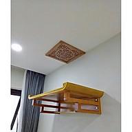 Combo bàn thờ treo tường Gỗ Mít ( tặng tấm chống ám khói ) thumbnail