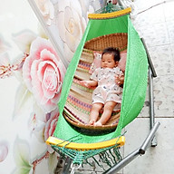Bộ Võng xếp cho bé khung sơn tĩnh điện chắc chắn,an toàn cho bé thumbnail