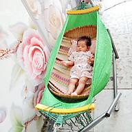 võng xếp em bé khung sơn tĩnh điện kèm lưới thumbnail
