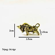 Móc Khóa Tượng Đồng Con Trâu dùng để làm móc khóa, trưng trên bàn, làm quà tặng lưu niệm, kích thước 3.5 x 1.5 x 2cm, màu đồng TMT Collection - SP005225 thumbnail