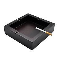 Gạt tàn thuốc lá HÌNH VUÔNG gỗ mun tự nhiên nguyên khối đục CNC chống cháy thumbnail