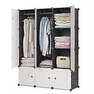 Tủ nhựa lắp ghép 12 ô quần áo (110cmx140cmx45cm) thumbnail