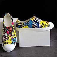 - Giày hoạ tiết màu vàng độc lạ, giày nhựa đi mưa, đi biển siêu nhẹ, không thấm nước thumbnail
