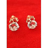 Bông tai nữ Bạc Quang Thản, khuyên tai nụ chốt đeo sát tai gắn đá kim cương nhân tạo sáng chất liệu bạc thật không xi mạ, phong cách đơn giản, thích hợp đeo thời trang, làm quà tặng QTBT12 thumbnail