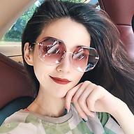 Kính râm nữ không viền nữ phiên bản Hàn Quốc là kính mỏng UV bảo vệ -Kính mắt nữ hình đa giác K02 thumbnail