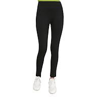 Quần Legging Nữ Cạp Cao 5P - Đen thumbnail