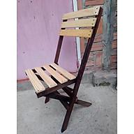 Ghế cafe, ban công, gập, xếp gọn, gỗ thông , chân gỗ muồng đen, có tựa lưng, cỡ trung,IKLV mât ghế cao42 cm, rộng 38cm. thumbnail