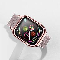 Dây vải đeo thay thế kèm khung viền bảo vệ cao cấp cho Apple Watch 44mm hiệu Usams US-ZB073 (thiết kế tinh tế, lực hút nam châm mạnh mẽ, lịch lãm sang trọng) - Hàng nhập khẩu thumbnail