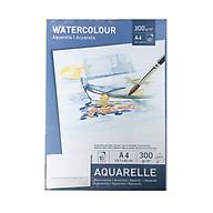 Giấy vẽ màu nước Aquarelle size A4 10 tờ định lượng 300g siêu dày vân mịn thumbnail