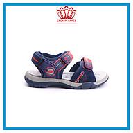 Dép Quai Hậu Cho Bé Trai Đi Học Thời Trang Cao Cấp Crown Space UK Active Sandal CRUK528 Da Nhẹ Êm Thoáng Khí Thấm Hút Mồ Hôi Cho Trẻ Size từ 26-35 2-14 Tuổi thumbnail