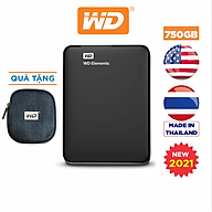 Ổ Cứng Di Động WD Elements Portable 750GB 2.5 USB 3.0 - WDBUZG7500ABK-WESN - Hàng Chính Hãng thumbnail