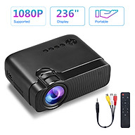 Mini LED Projector 1080P Supported 3500 Lux 50,000 Hours Lamp Life 236 Inch Display Portable Movie Projector Built-in thumbnail